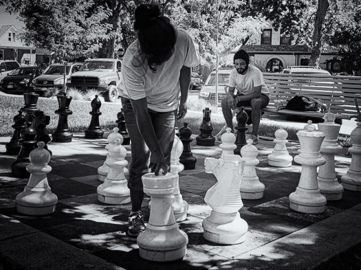 at the public library...chess