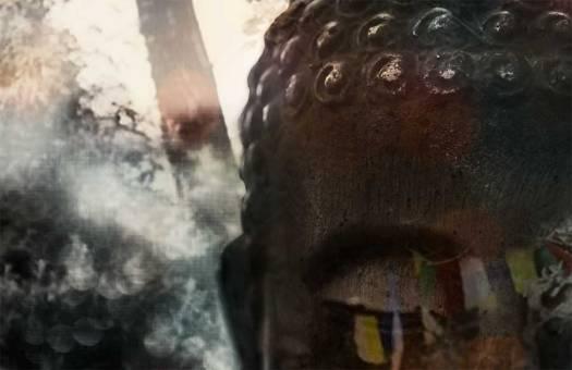 doubleexposurebuddha